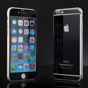 Защитное стекло для Apple iPhone 6 - зеркальное, черное