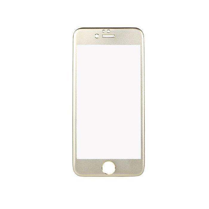 Защитное стекло для Apple iPhone 6/6S - iBacks Full прозрачный + золотистый