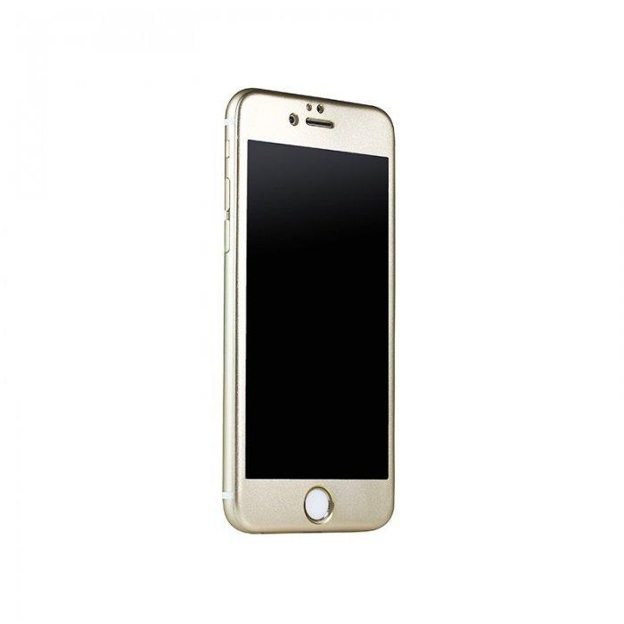 Защитное стекло iBacks Full прозрачный + золотистый для iPhone 6/6S