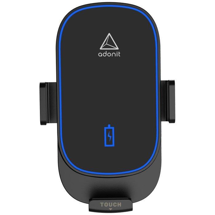 Автомобильная беспроводная зарядка и держатель Adonit 15W Wireless Car Charger черная