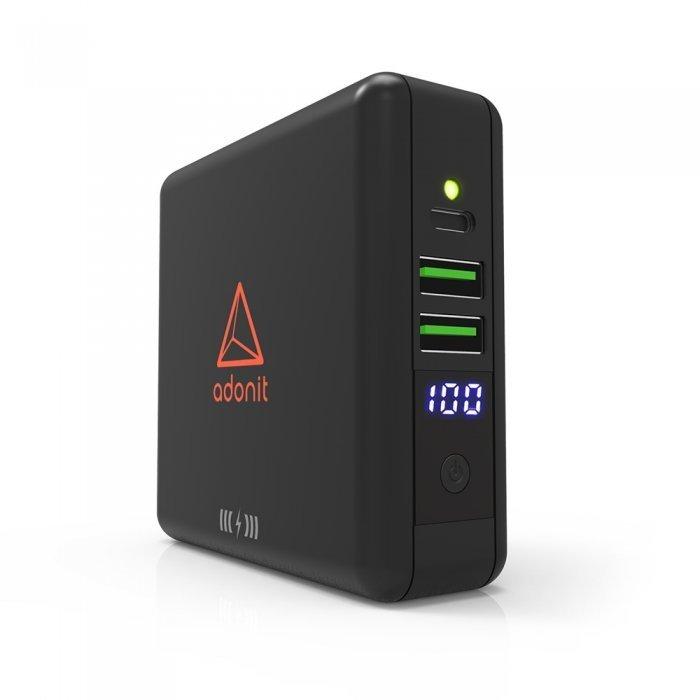Сетевое беспроводное ЗУ + портативный аккумулятор Adonit Wireless TravelCube черное