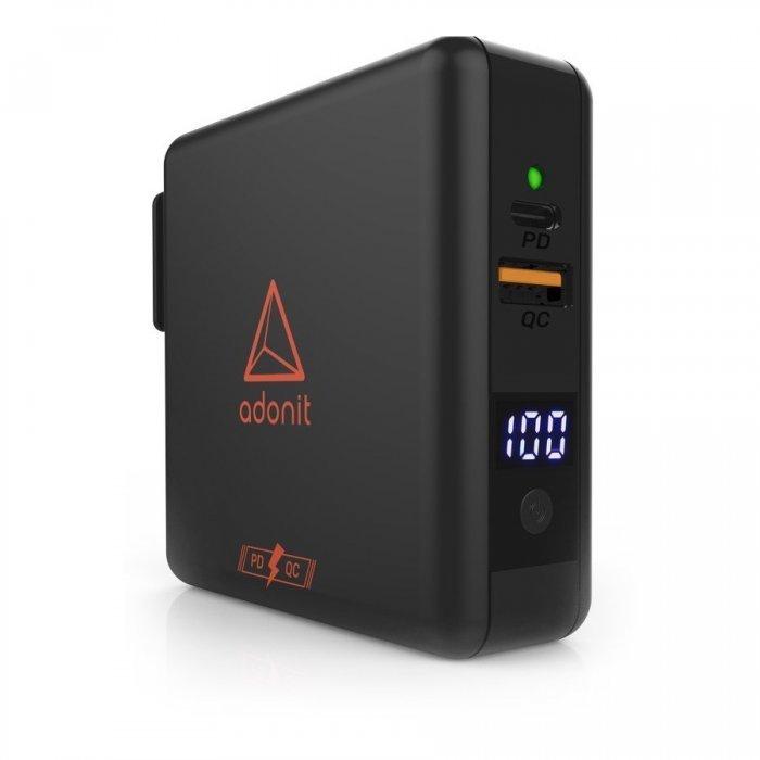 Сетевое беспроводное ЗУ + портативный аккумулятор Adonit Wireless TravelCube Pro черное