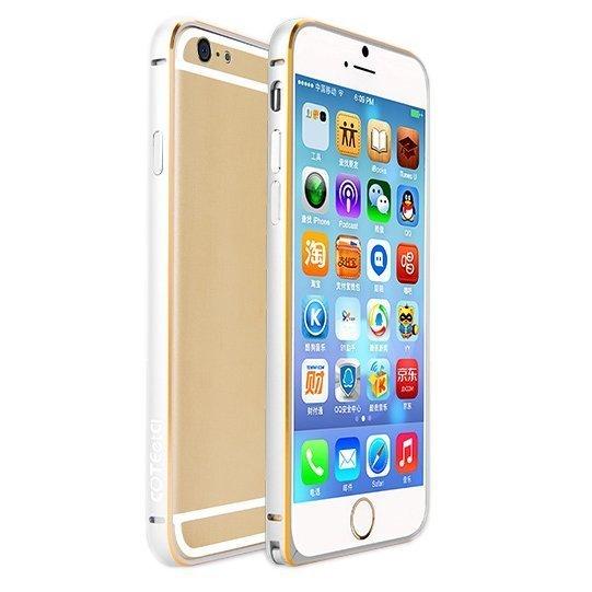 Металлический бампер Coteetci Aluminum серебристый для Apple iPhone 6/6S