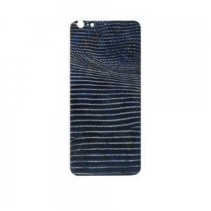 Наклейка для Apple iPhone 6 Plus - кожа игуаны, синяя