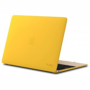 "Чехол-накладка для Apple MacBook 12"" - Kuzy Rubberized Hard Case желтый"