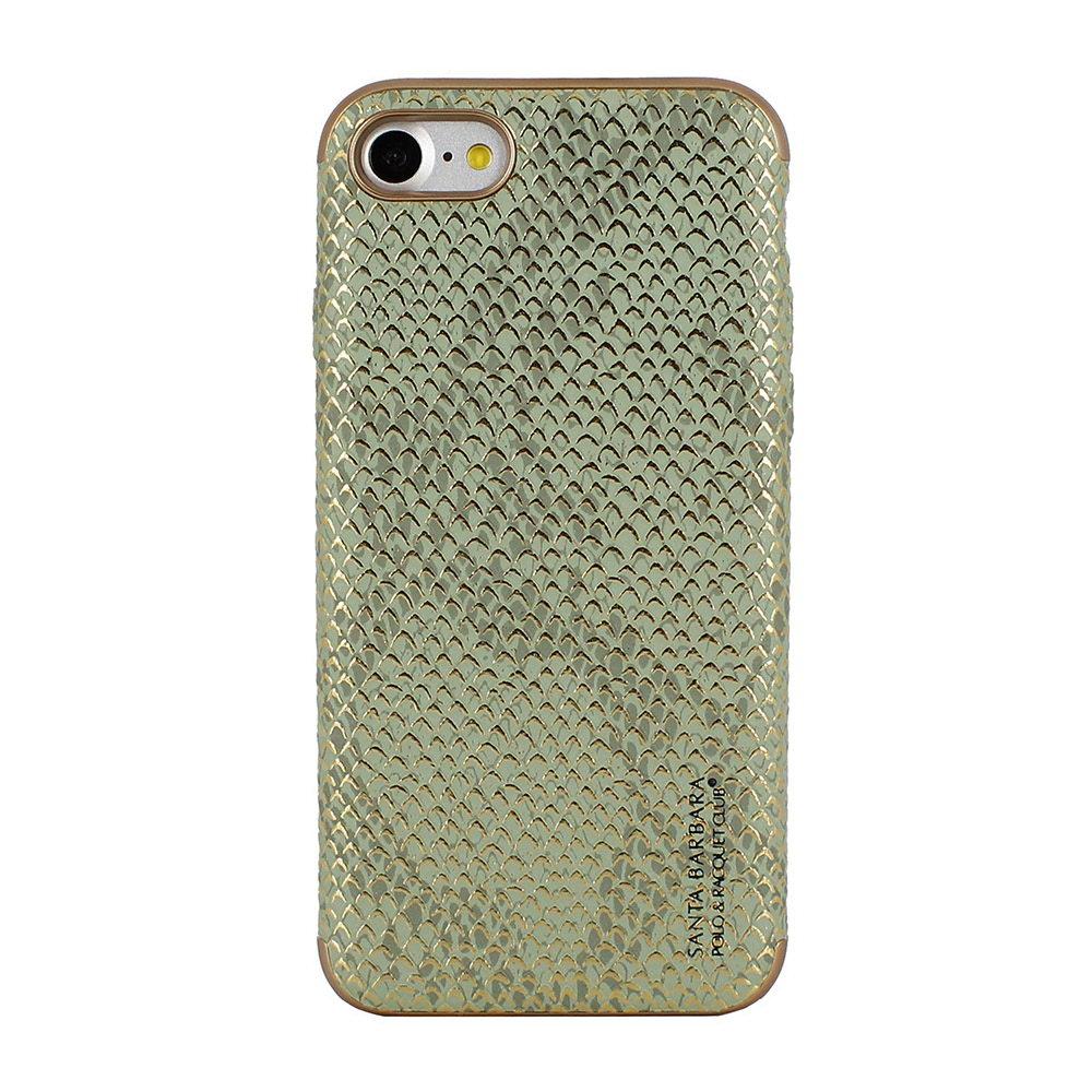 Кожаный чехол Polo Viper Cobra зеленый для iPhone 8/7
