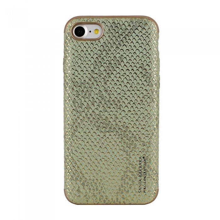 Кожаный чехол Polo Viper Cobra зеленый для iPhone 8/7/SE 2020