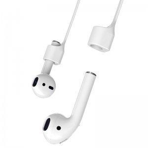 Аксессуар Baseus Strap белый для наушников Apple AirPods