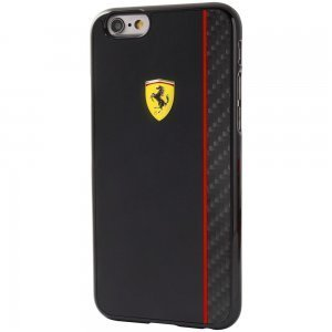 Чехол-накладка для Apple iPhone 6/6S - Ferrari Scuderia Carbon Fiber Plate черный