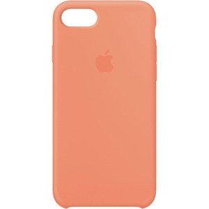 Чехол Apple Silicone Case оранжевый для iPhone 7/8 (реплика)