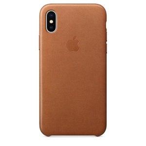 Кожаный чехол коричневый для iPhone X