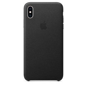 Шкіряний чохол чорний для iPhone XS Max