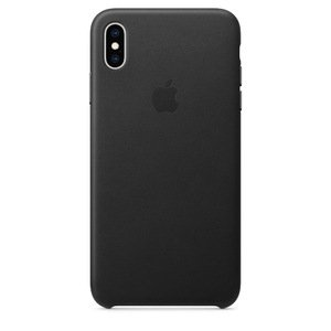Кожаный чехол чёрный для iPhone XS Max