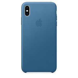 Кожаный чехол синий для iPhone XS Max