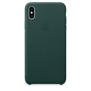Кожаный чехол зелёный для iPhone XS Max