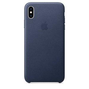Кожаный чехол темно-синий для iPhone XS Max