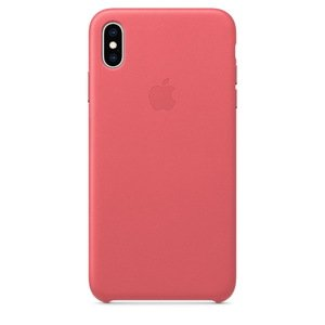 Чехол Apple Leather Case розовый для iPhone XS Max (реплика)