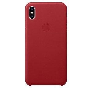 Кожаный чехол красный для iPhone XS Max
