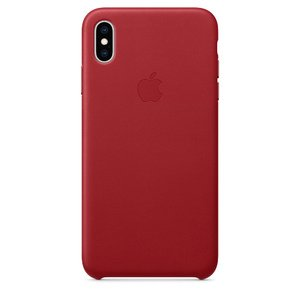 Чехол Apple Leather Case красный для iPhone XS Max (реплика)