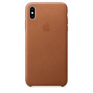 Чехол Apple Leather Case коричневый для iPhone XS Max (реплика)