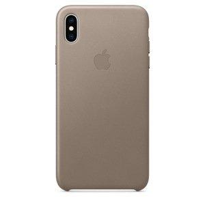 Чехол Apple Leather Case темно-серый для iPhone XS Max (реплика)