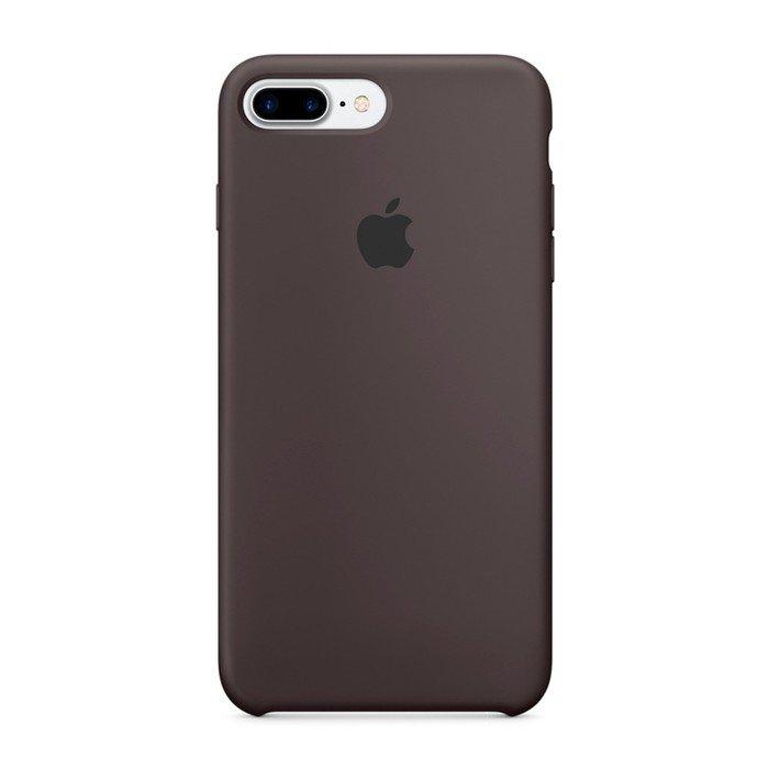 Чехол Apple Silicone Case коричневый для iPhone 8 Plus/7 Plus (реплика)