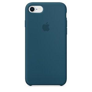 Чехол Apple Silicone Case синий для iPhone 8/7 (реплика)