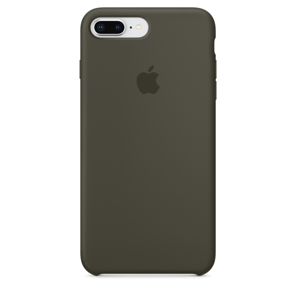 Чехол Apple Silicone Case зелёный для iPhone 8 Plus/7 Plus (реплика)