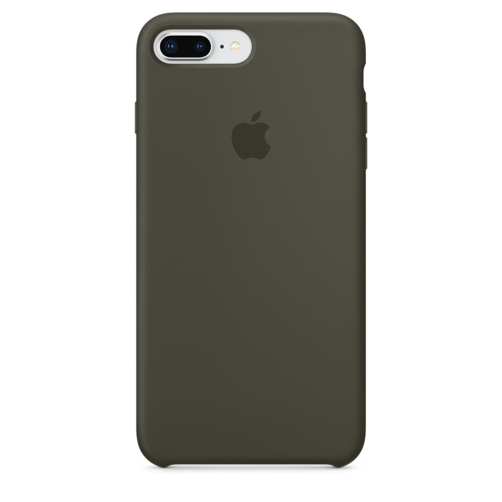 Силиконовый чехол зелёный для iPhone 8 Plus/7 Plus
