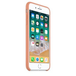 Чехол Apple Silicone Case бледно-оранжевый для iPhone 8/7 Plus (реплика)
