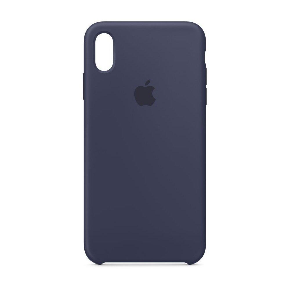 Чехол Apple Silicone Case темно-синий для iPhone XR (реплика)