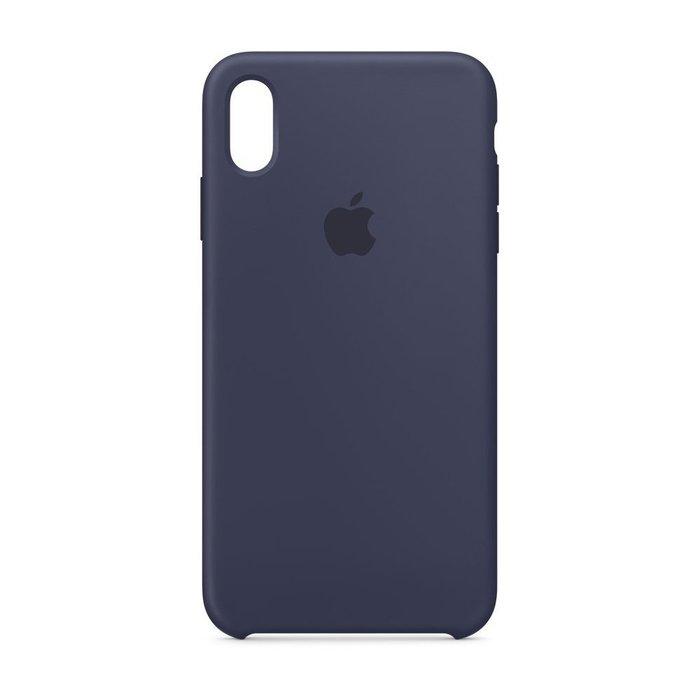 Силиконовый чехол темно-синий для iPhone XR
