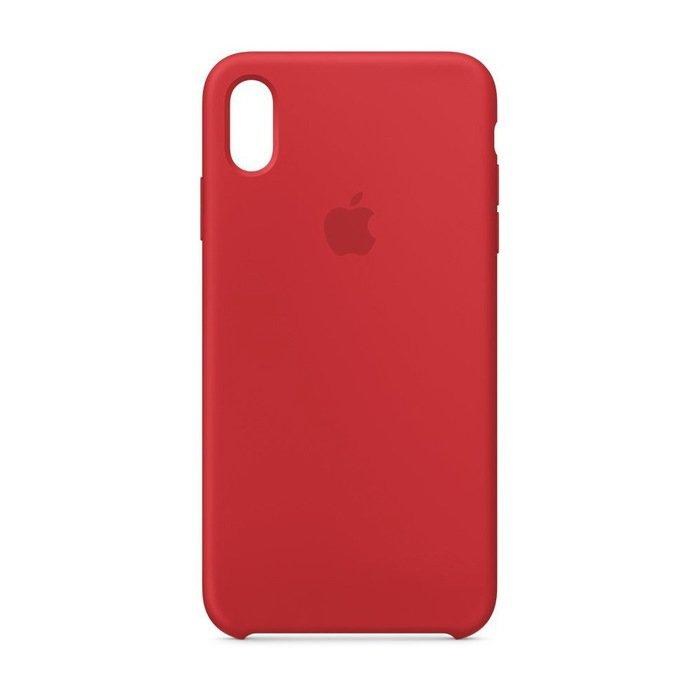 Силиконовый чехол красный для iPhone XR