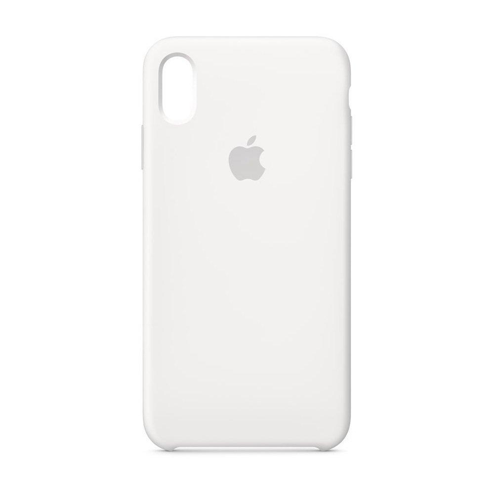 Чехол Apple Silicone Case белый для iPhone XR (реплика)