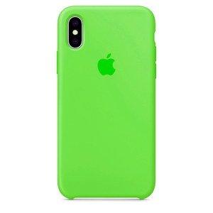 Силиконовый чехол Lime Green зелёный для iPhone X/XS