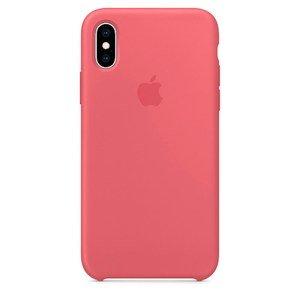 Силиконовый чехол Coral розовый для iPhone XS Max