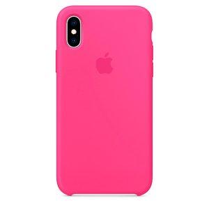 Силіконовий чохол Electric Pink рожевий для iPhone X / XS