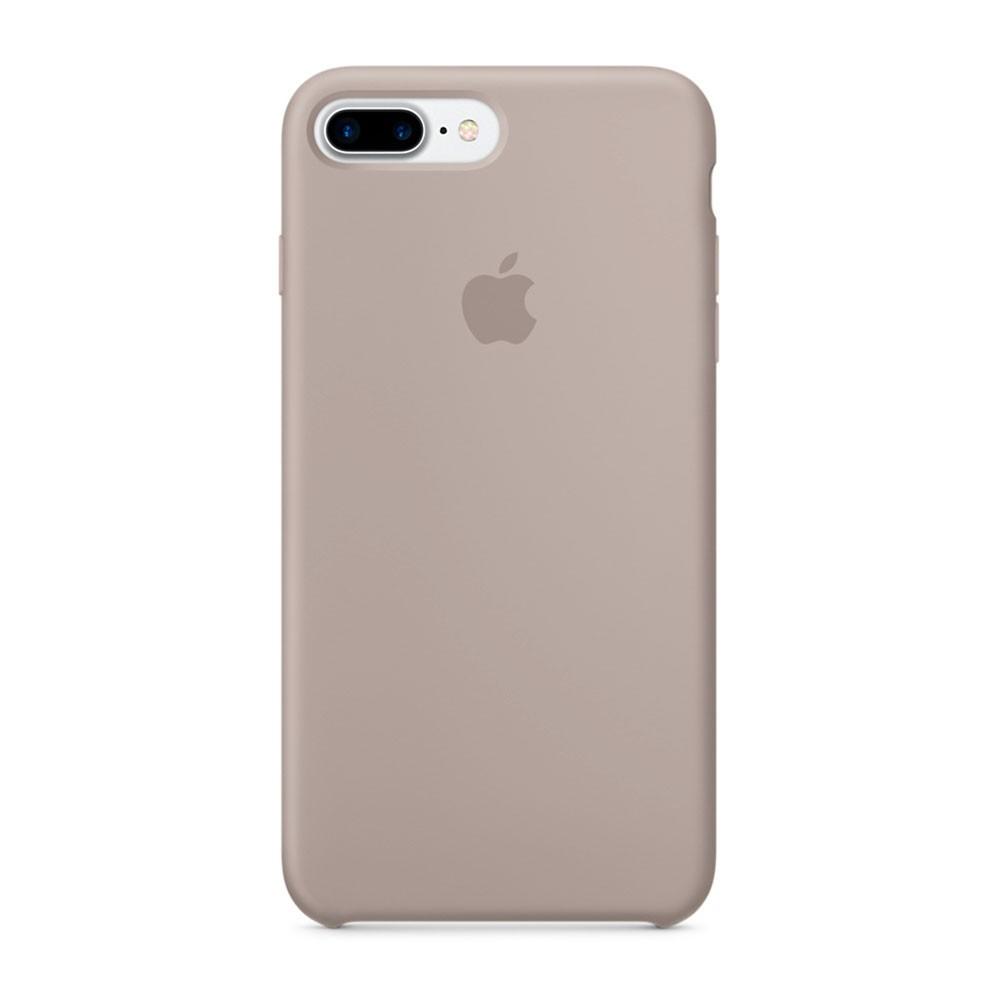 Чехол Apple Silicone Case темно-серый для iPhone 8 Plus/7 Plus (реплика)