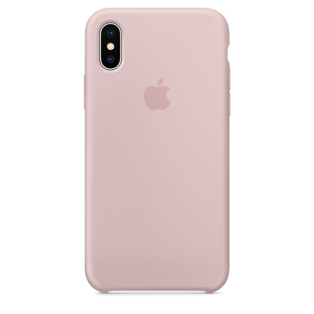 Чехол Apple Silicone Case розовый для iPhone X (реплика)