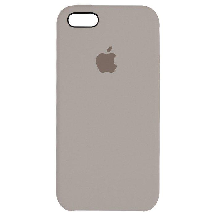 Чехол Apple Silicone Case серый для iPhone SE/5/5S (реплика)
