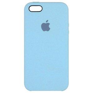 Силиконовый чехол ярко-синий для iPhone SE/5/5S