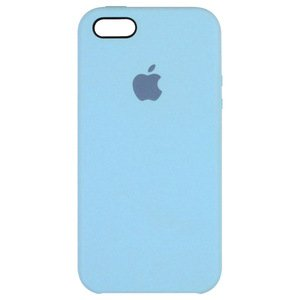 Силиконовый чехол голубой для iPhone SE/5/5S
