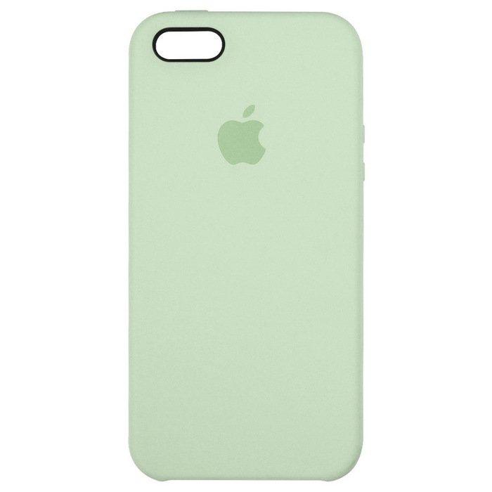 Силиконовый чехол бледно-зеленый для iPhone SE/5/5S