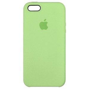Силиконовый чехол зеленый для iPhone SE/5/5S