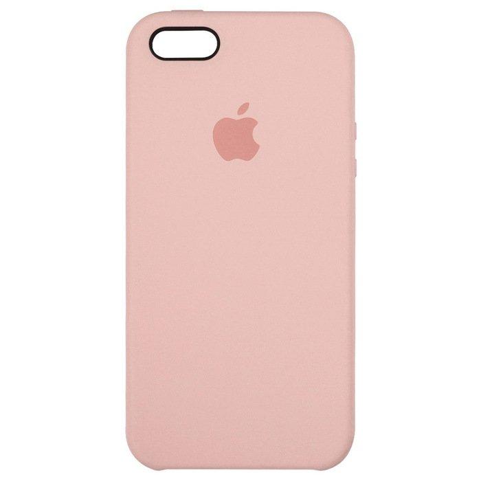 Чехол Apple Silicone Case розовый для iPhone SE/5/5S (реплика)