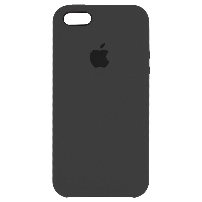 Чехол Apple Silicone Case темно-серый для iPhone SE/5/5S (реплика)