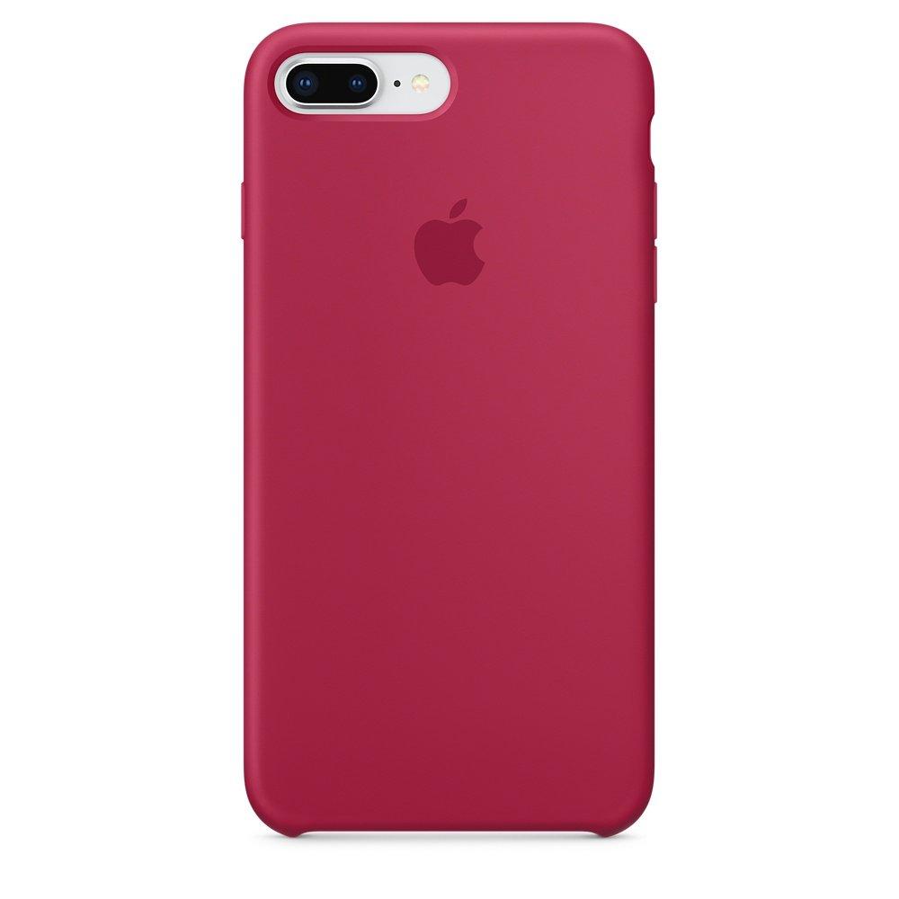 Чехол Apple Silicone Case ярко-розовый для iPhone 8 Plus/7 Plus (реплика)
