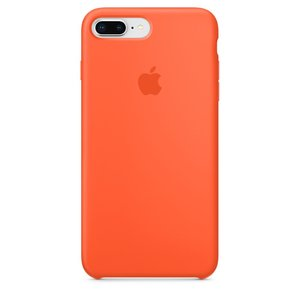 Чехол Apple Silicone Case оранжевый для iPhone 8 Plus/7 Plus (реплика)
