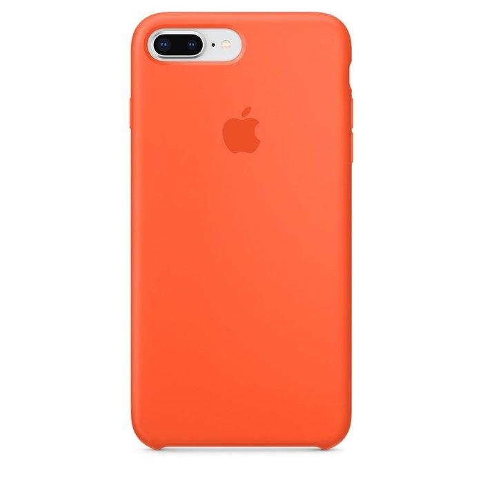 Силиконовый чехол оранжевый для iPhone 8 Plus/7 Plus