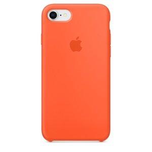 Чехол Apple Silicone Case оранжевый для iPhone 8/7 (реплика)